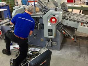 Onderhoud boekbinderij machines Quattro Graphics technische dienst service